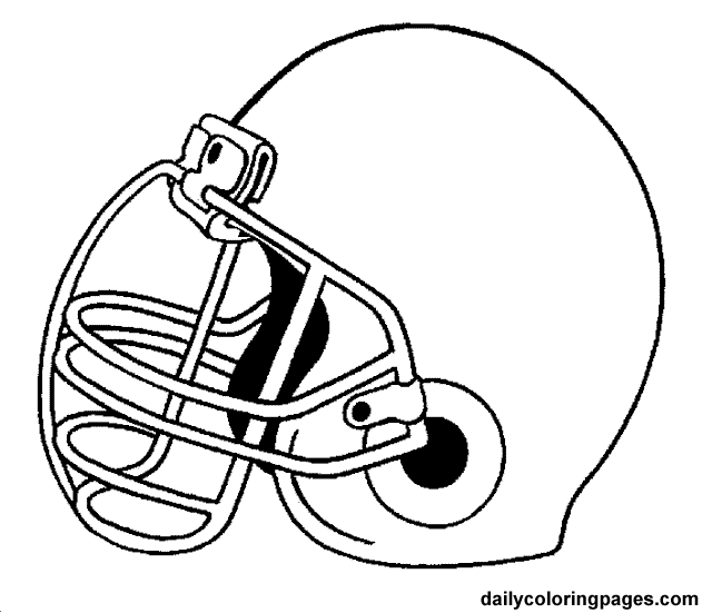 free football coloring pages for kids