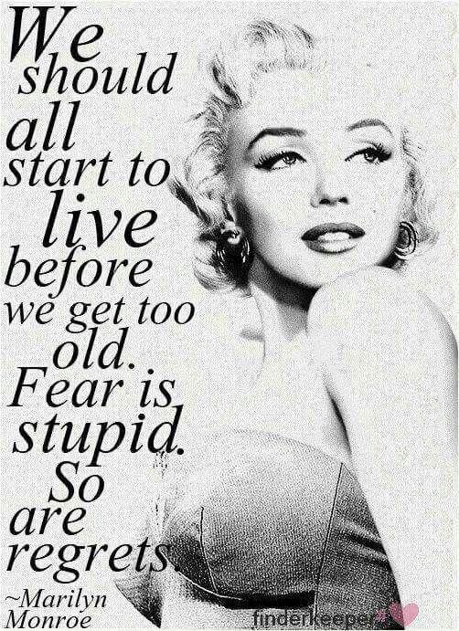 Start to live.