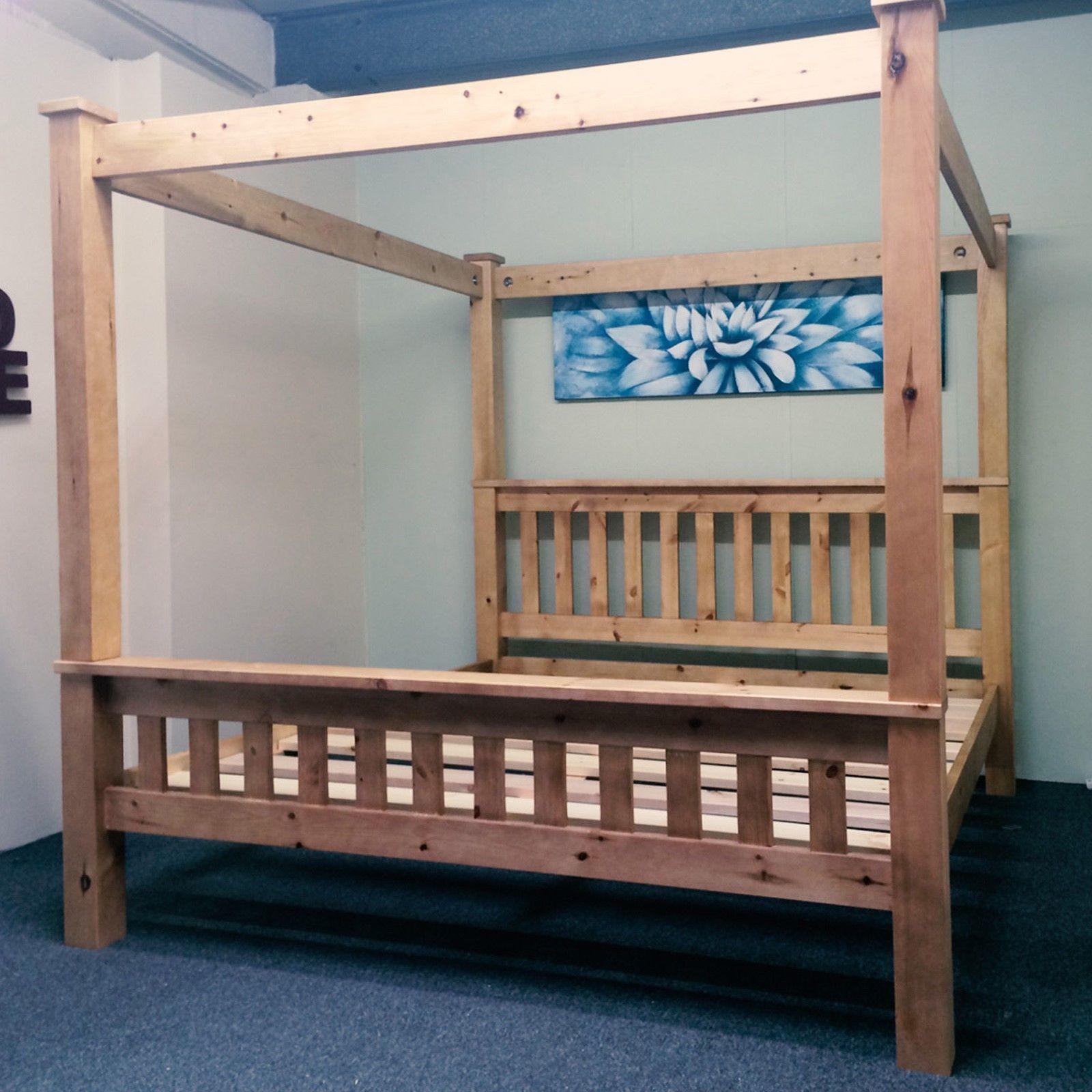 Solid Pine Bed - FOUR POSTER (NEW) Winner Select 5FT Kingsize or 6FT Super King https://t.co/o85KA90qey https://t.co/dUaQ4ZEnOG
