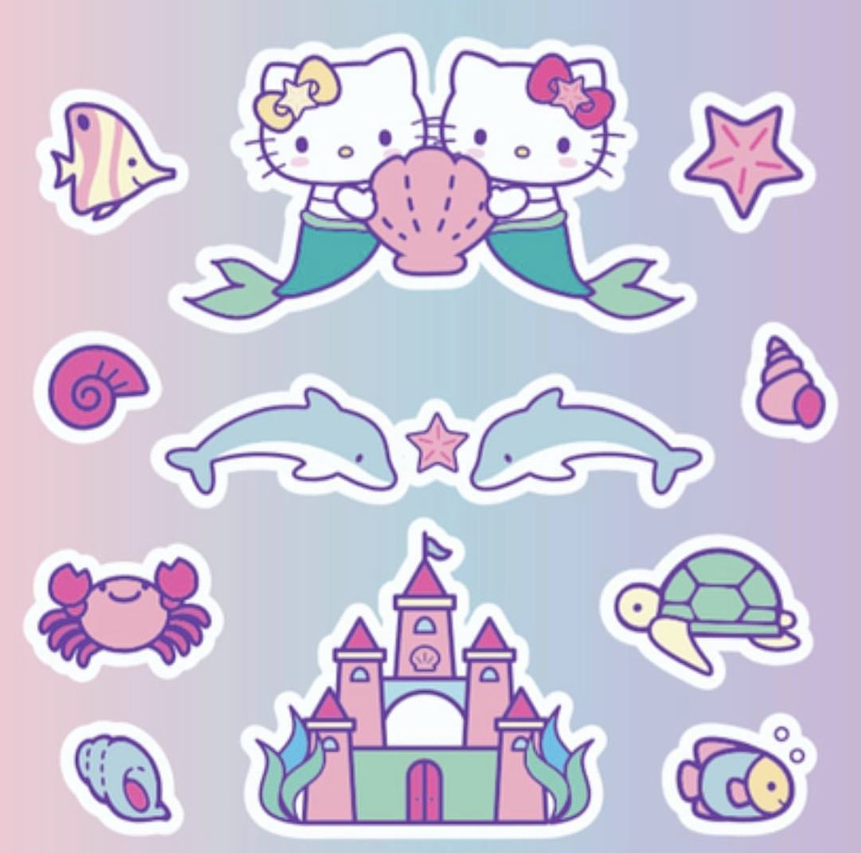 Underwater Mermaid Die Cut Stickers for Planner Decorations Pink