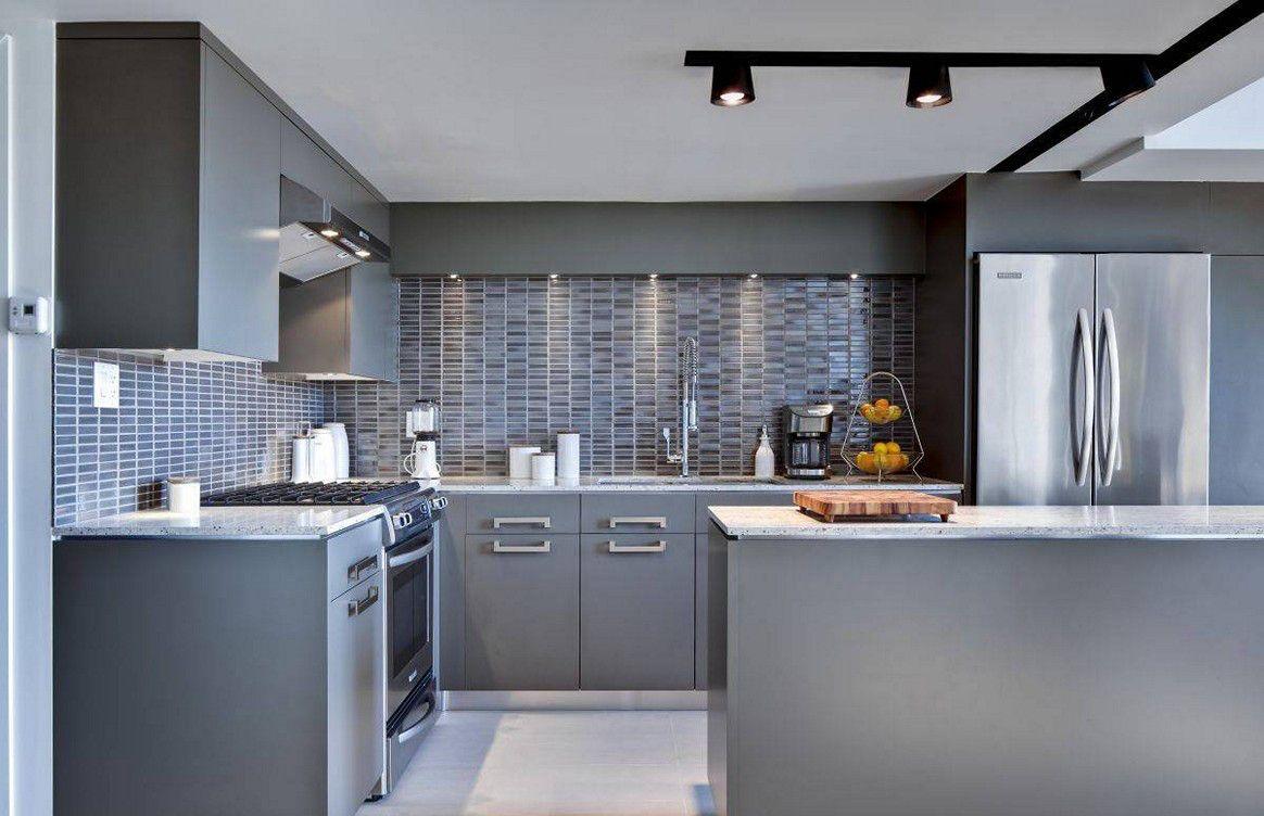 Moderne Grau Küchenschränke Graue küchenwände, Graue