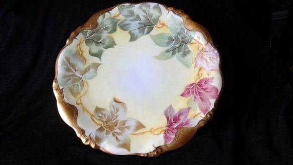 Elite Works Limoges France Decorative Plate by ArmadilloAttic & Elite Works Limoges France Decorative Plate | France