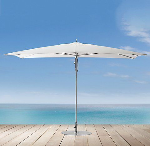 Ocean Master Polished Aluminum Umbrella