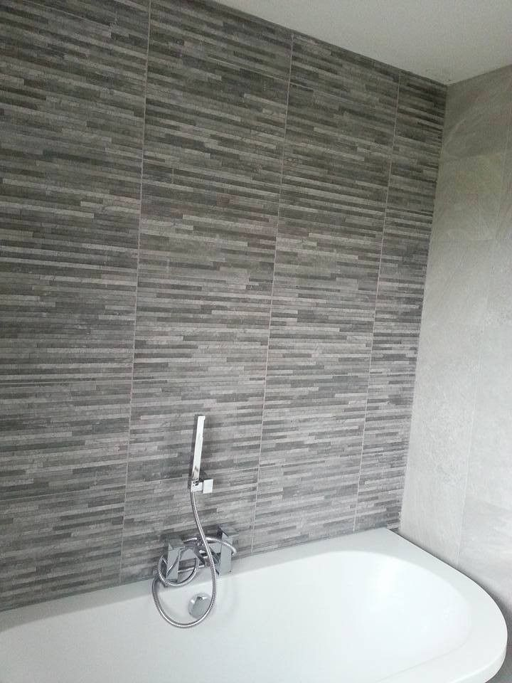 Tile Mountain, £25 psm Brix Stratum Anthracite Wall Tile Roomset ...