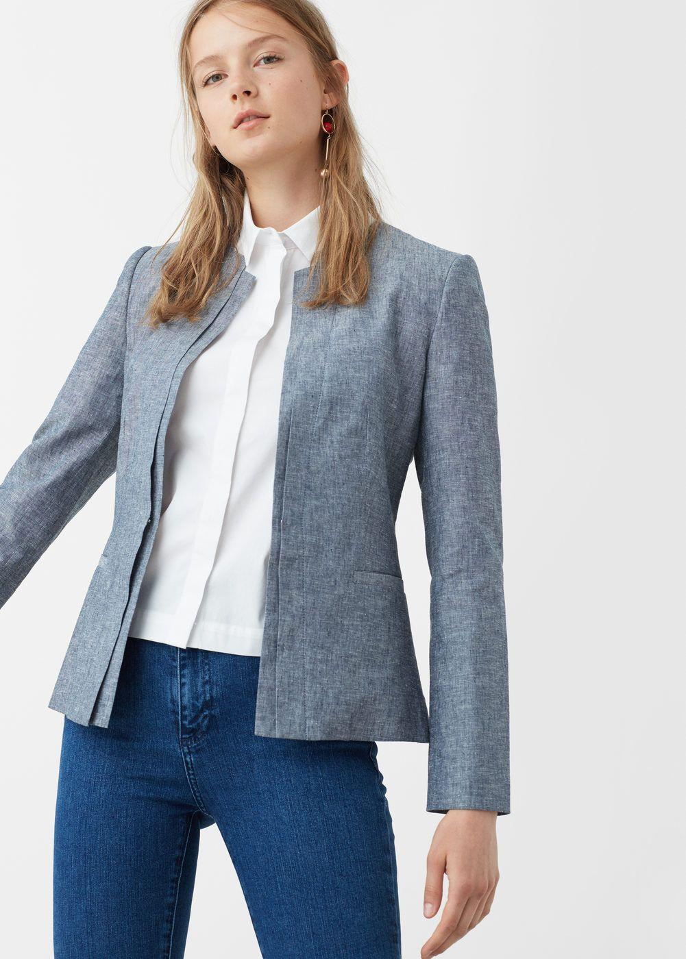8ffc4c84b7 Giacca lino tasche - Donna nel 2019 | Dress inspirations | Blazer ...