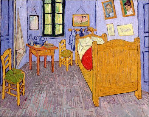 Poster Van Gogh\u0027s Schlafzimmer in Arles Van gogh, Vans and Monet