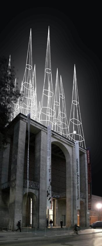 """Title: """"Le punte di Milano""""    //   Artist: Michele De Lucchi    //    Location: Triennale"""