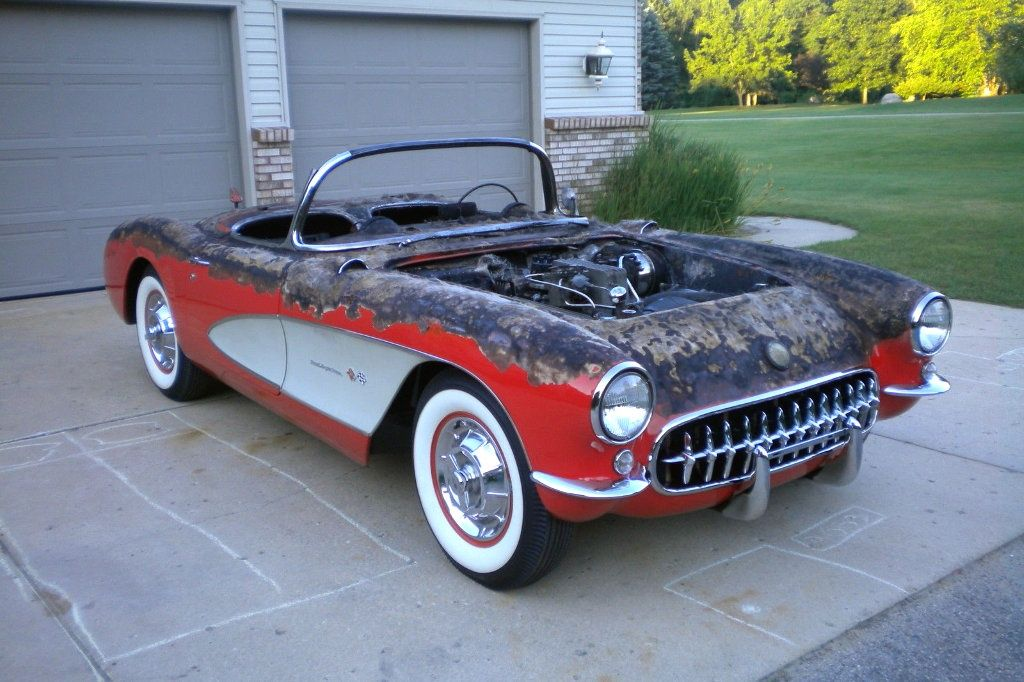 Charred 1957 Corvette Fuelie - http://barnfinds.com/charred-1957 ...