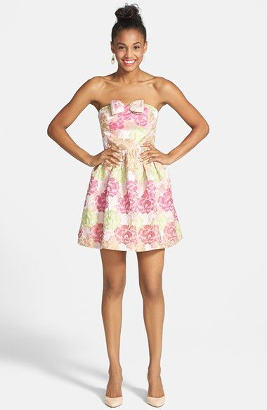 ac866558de a. drea  Ariana  Textured Floral Strapless Dress (Juniors) · Bachelorette  Party ...