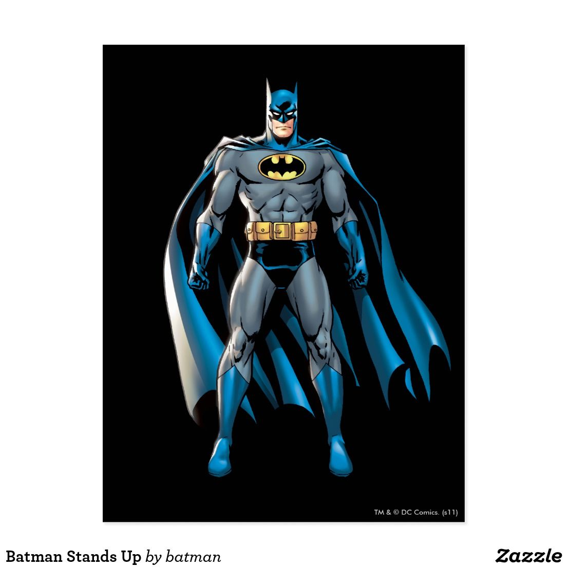 Batman stands up postcard unique superhero designs to personalize as a gift for yourself friends and families perfect unique ideas for all birthdays and