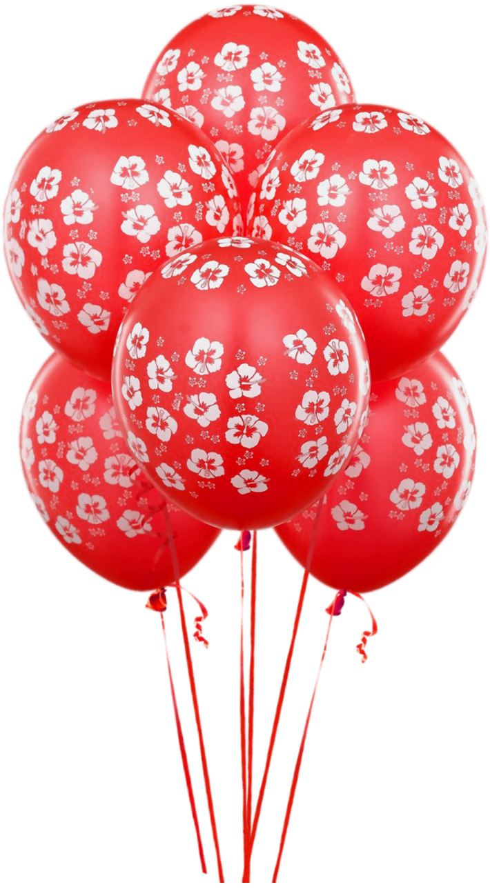 transparent red balloons clipart birthday party