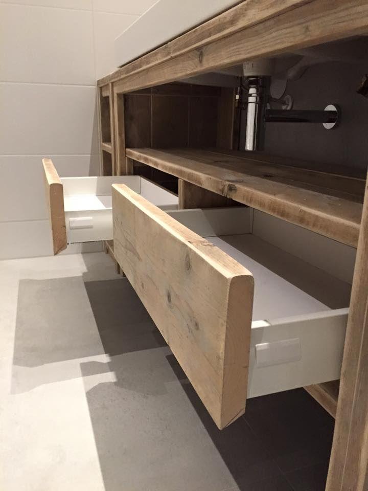 Meuble salle de bain de chez Pays Bois maison Pinterest Tables - Meuble Avec Miroir Pour Salle De Bain