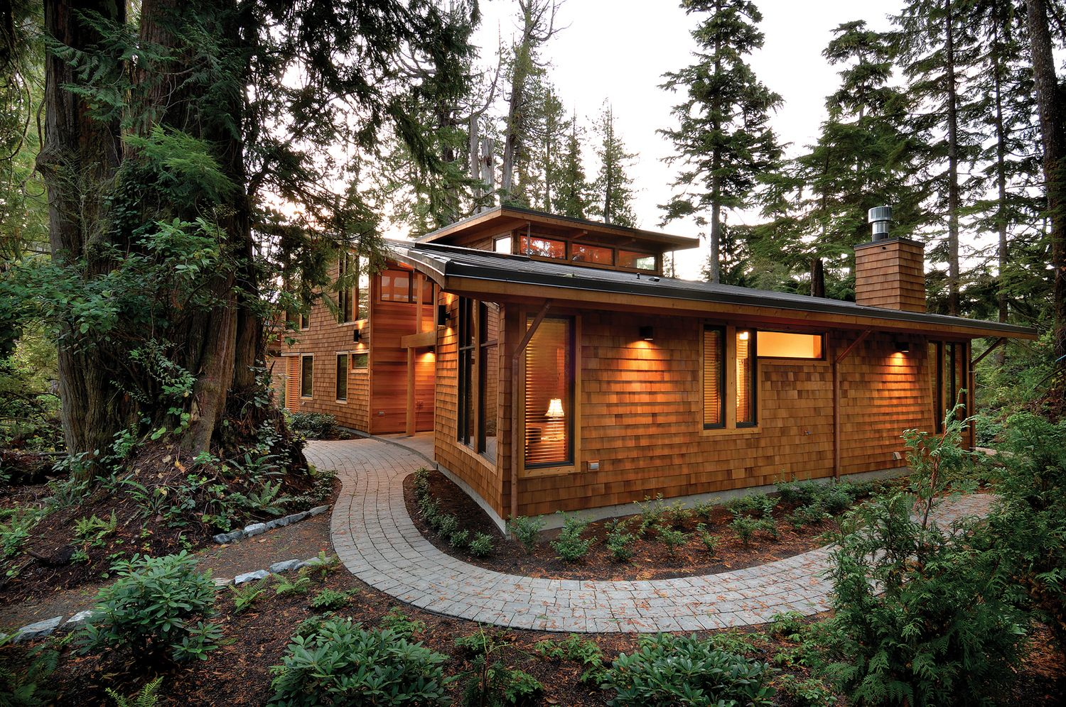 West Coast Style Modern Cedar Timber Cottage On Vancouver Island Idesignarch Interior Design Architecture Interior Decorating Emagazine Timber Framing Timber House Timber Frame Homes