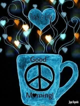 Mornin Hippies Peace Coffee Coffee Art