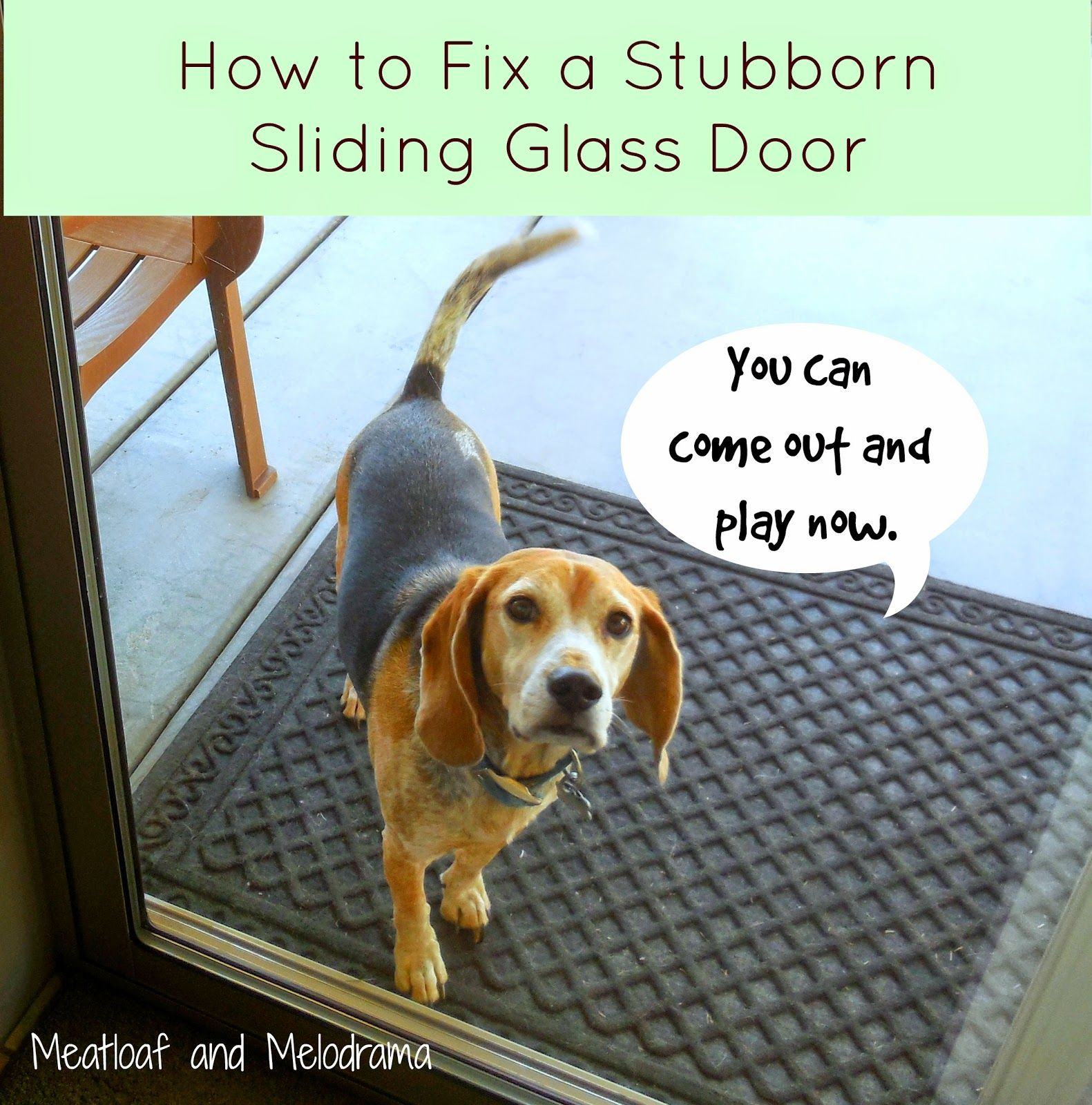 How to fix your stubborn sliding glass door sliding