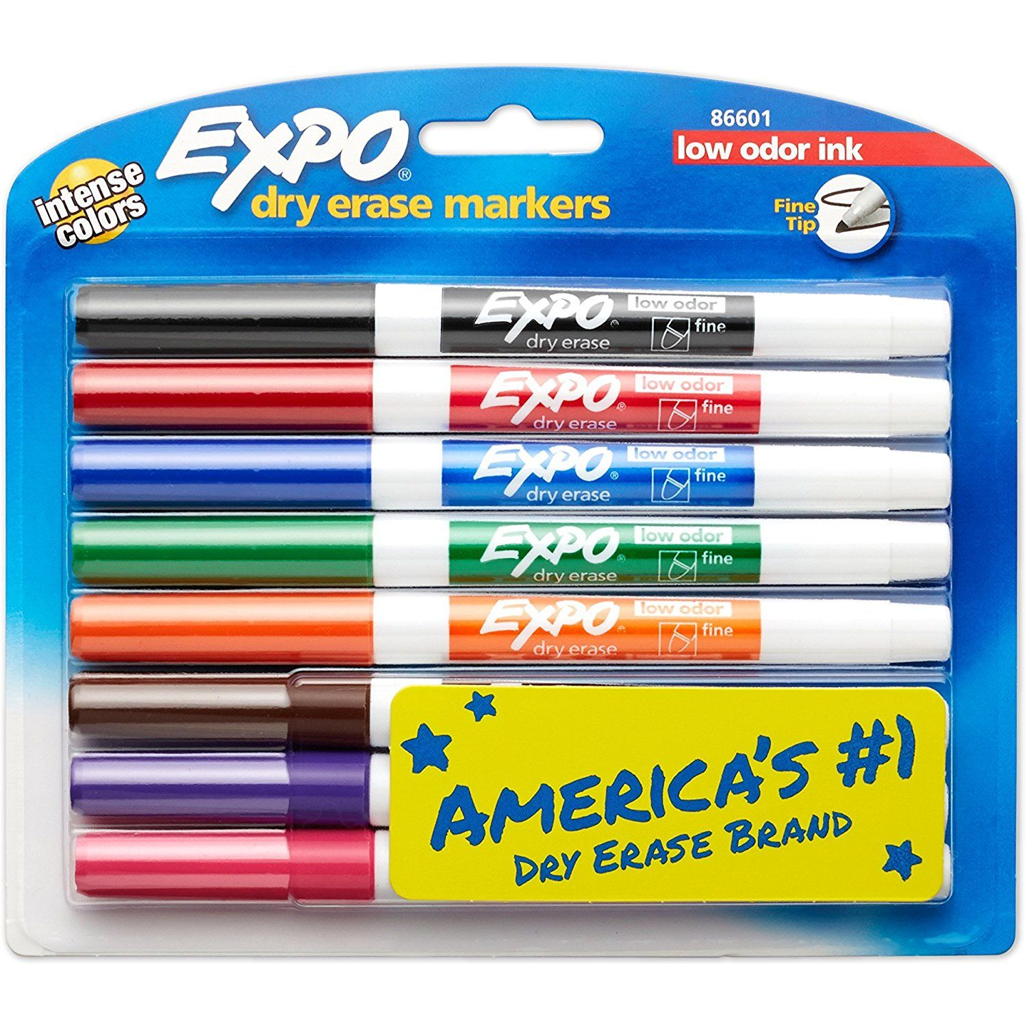 Expo Low Odor Dry Erase Markers Fine Tip Assorted Colors 8 Count Find Out More About The Great Product At Th Dry Erase Markers Expo Marker Markers