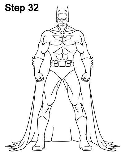 How To Draw Batman Full Body With Images Batman Drawing