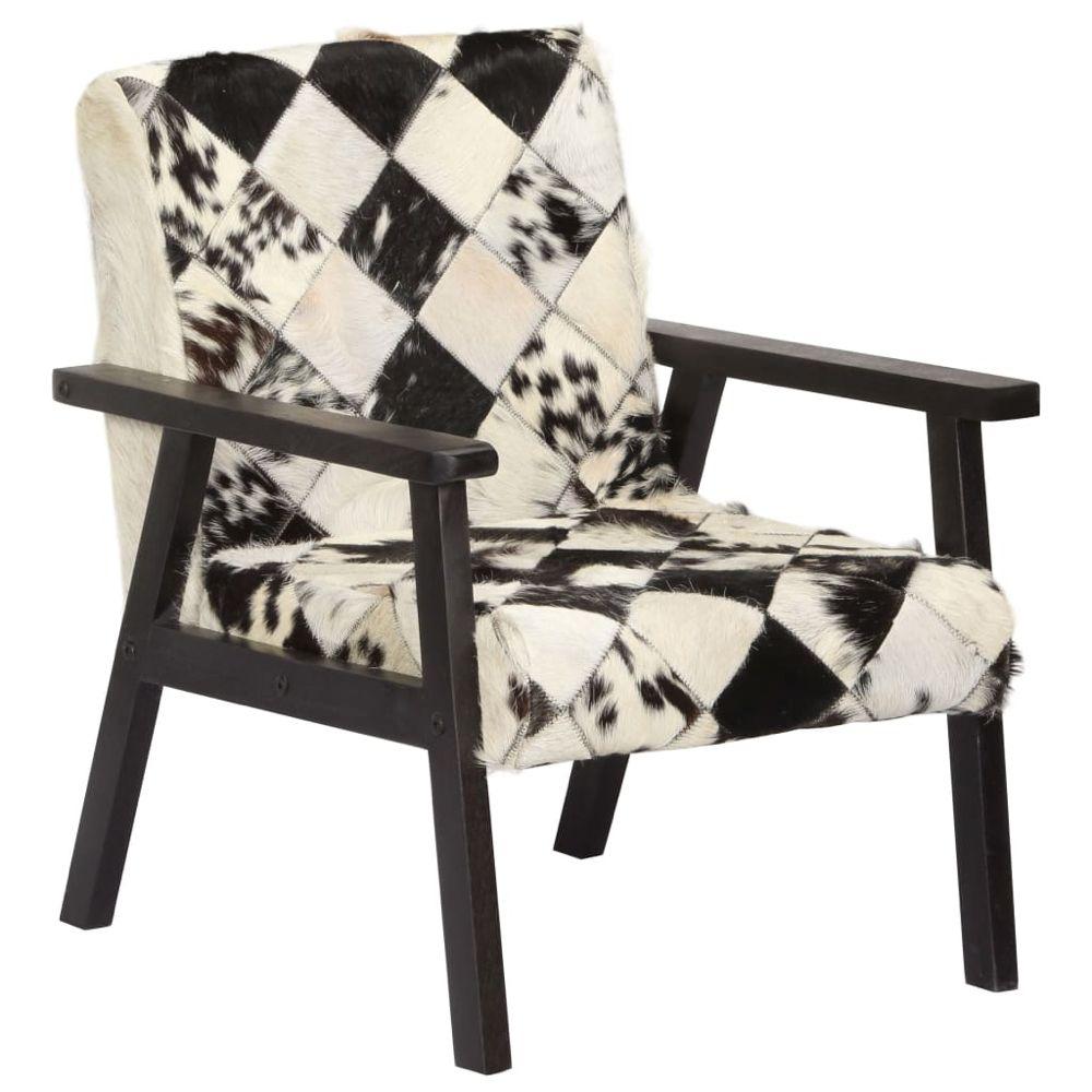 Sessel Schwarz und Weiß Echtleder | Sessel schwarz ...