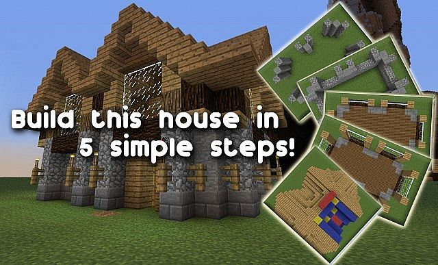 Minecraft Houses Step By Step Pictures Google Search