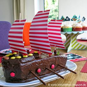 Photo of Pirate Party Children's Birthday Pirate Cake www.loloundtheo.b …