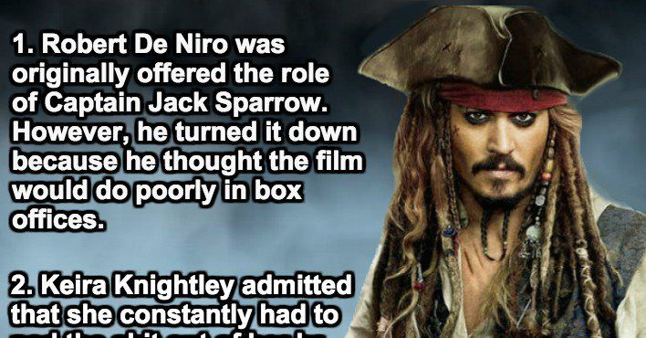 18 Behind-The-Scenes Facts About Pirates Of The Caribbean. These Are Treasure.