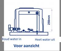 BBA Duiven Artnr. 30007 Whale boiler, gas / electrisch, 8 ltr, 12V/230V, gewicht (leeg) 8 kg