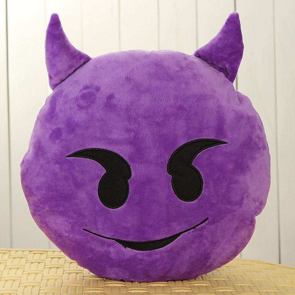 Details About Cute Emoji Smiley Emoticon Round Soft Cushion Pillow - Soft decorative pillows