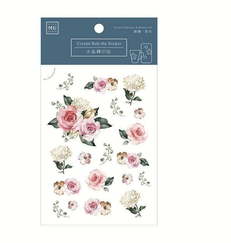 Pink /& Grey Delicate Vtg Flower Floral Botanical Bujo Planner Craft Washi Tape
