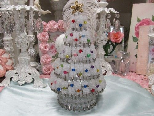Free Beaded Christmas Patterns Tree Pattern Safety Pin