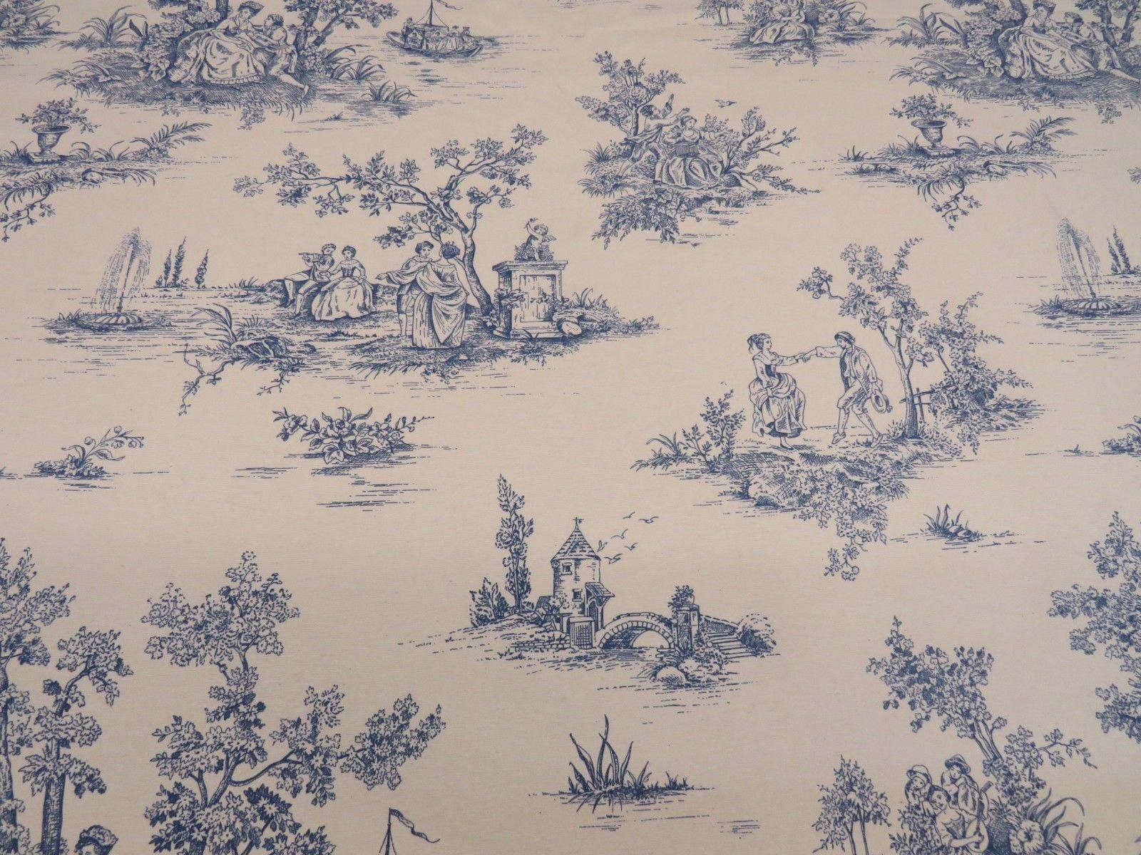 1:12 scale Tiny Toile de jouy Print Dollhouse Curtains Black on Cream