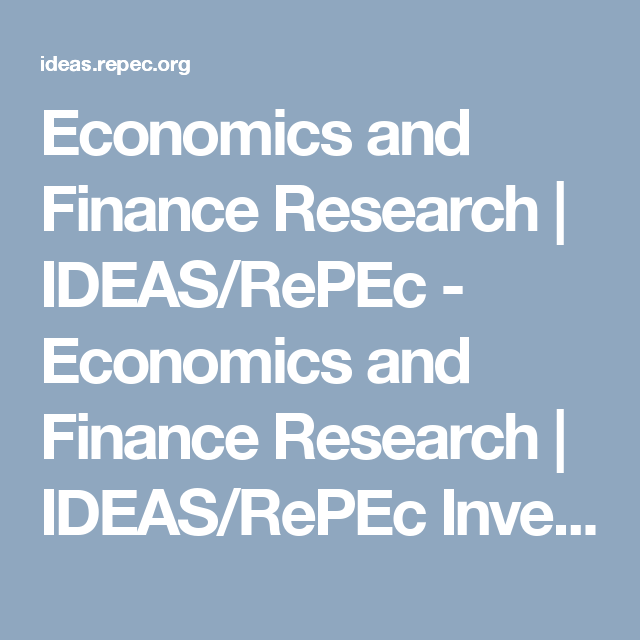 research topics in economics and finance
