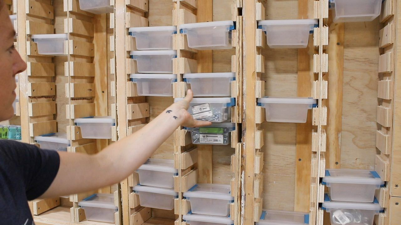 Organize Your Hardware! In-Wall Hardware Storage