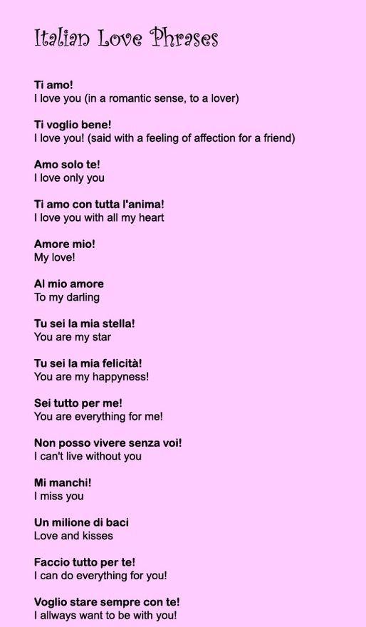 Pin By Maria Gonaria On T U T T O I T A L I A N O Italian Love Phrases Italian Quotes Italian Phrases
