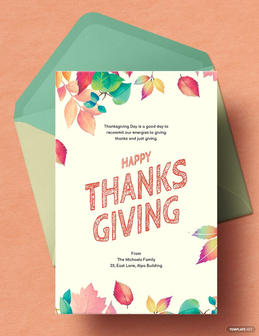 Free Thanksgiving Card Template Word Doc Psd Apple Mac Pages Illustrator Publisher Thanksgiving Cards Card Template Card Templates Free