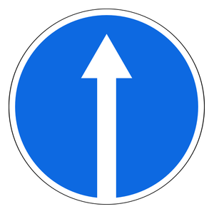 Continue Straight On Traffic Signs Traffic Signs