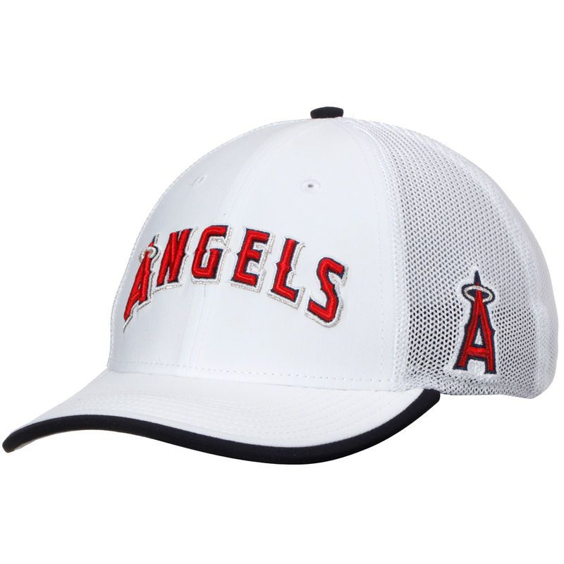 big sale 2b242 35749 Los Angeles Angels of Anaheim Nike Fabric Mix Swoosh Performance Flex Hat -  White