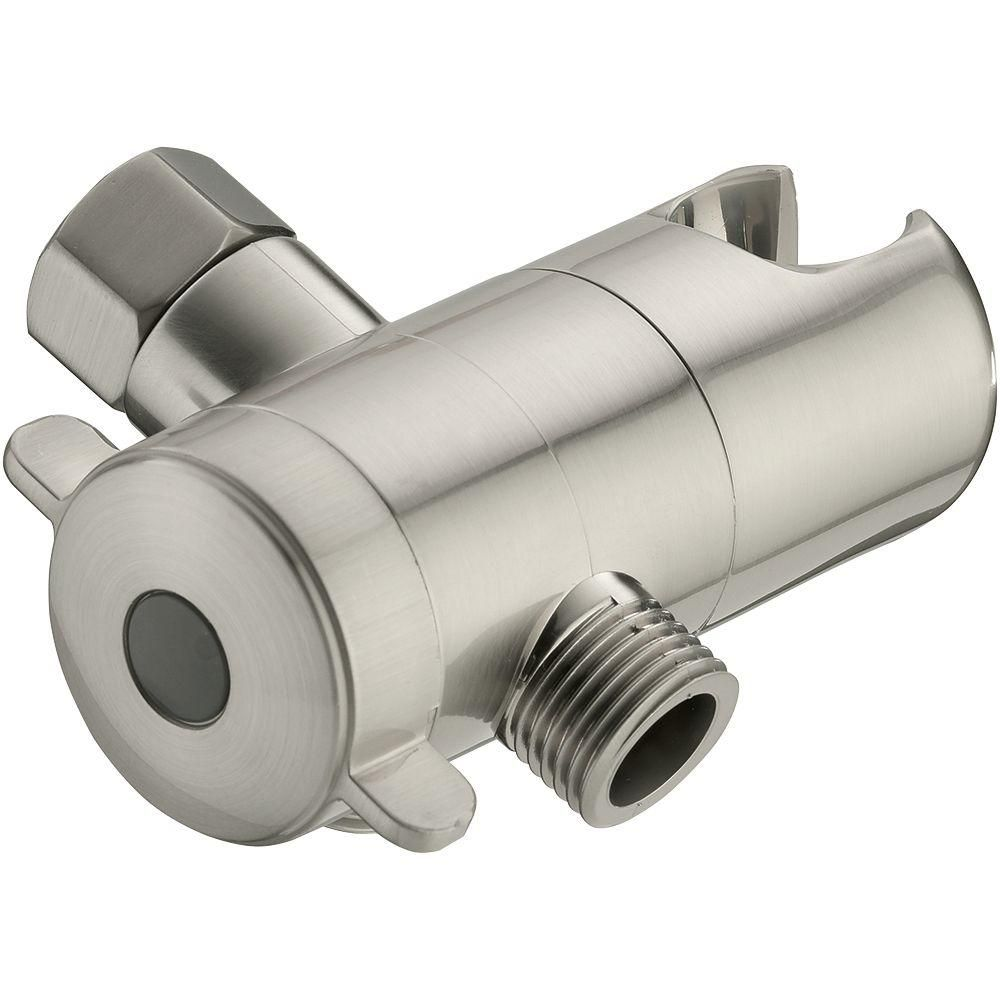 Glacier Bay 3 Way Shower Diverter With Mount In Brushed Nickel 3075 544    The Home Depot