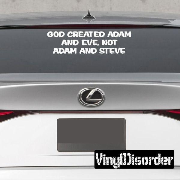 God Created Adam And Eve Not Adam And Steve Decal With Images