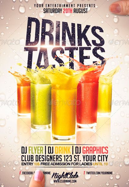 Drinks Restaurant Bar Flyer Template ffflyer – Bar Flyer Template