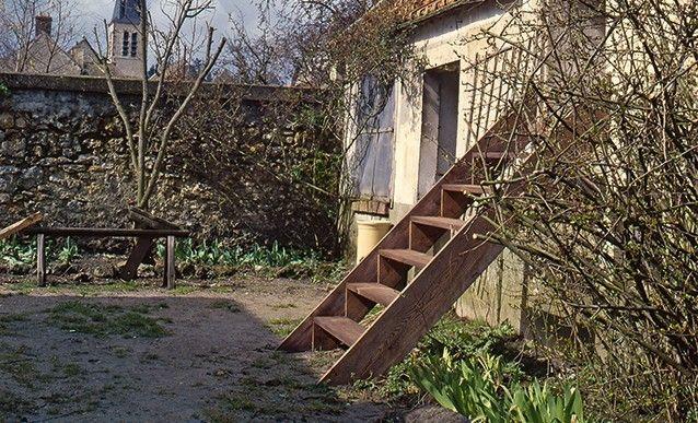 Jardin construire une chelle de meunier en sapin for Echelle exterieur