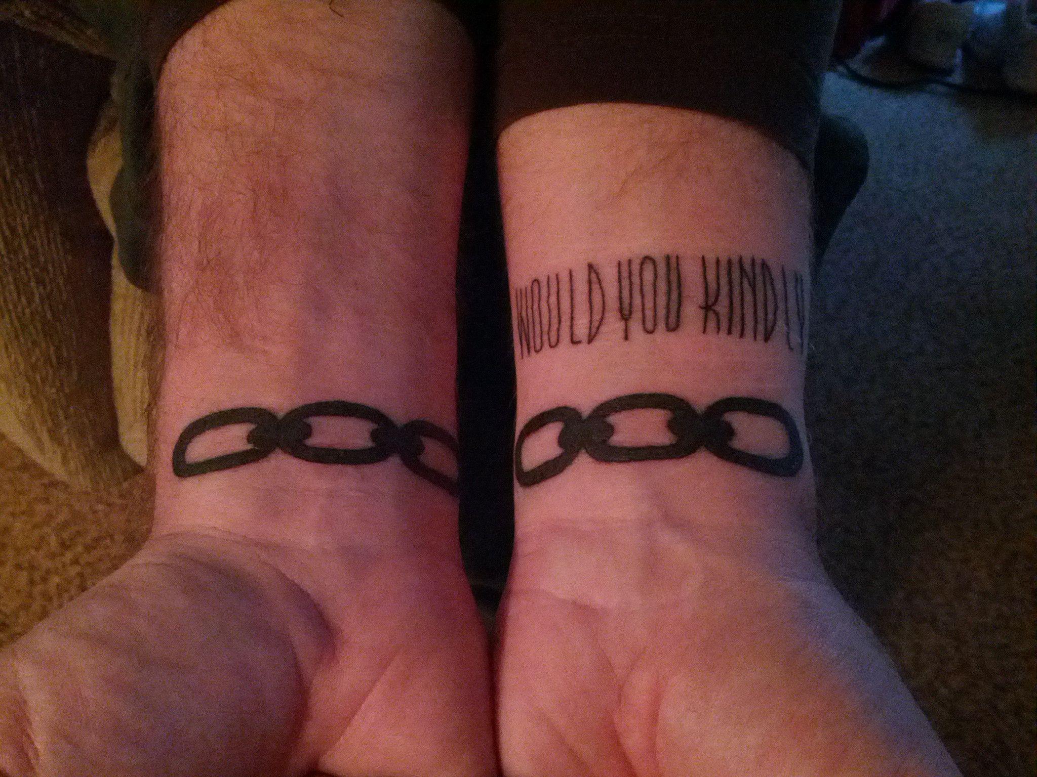 Bioshock tattoo would you kindly for Bioshock wrist tattoo