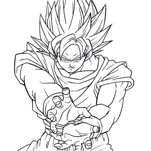 Worksheet. Dibujos de Dragon Ball Z para imprimir y colorear  Fotos o