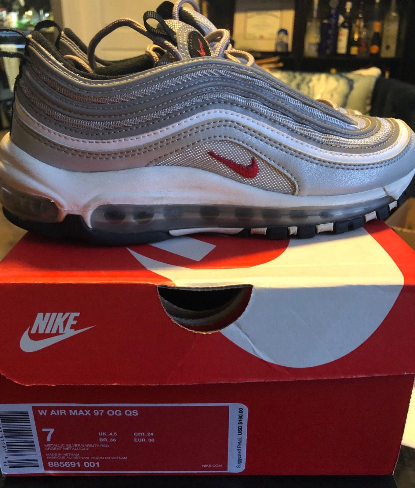 Women S Nike Air Max 97 Silver Bullet Size 7 Great Condition Ready2ship W Box Nike Air Max For Women Nike Air Max 97 Nike Air Max