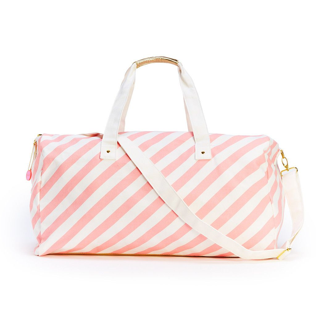 the getaway duffle bag - ticket stripe in blush #adroll