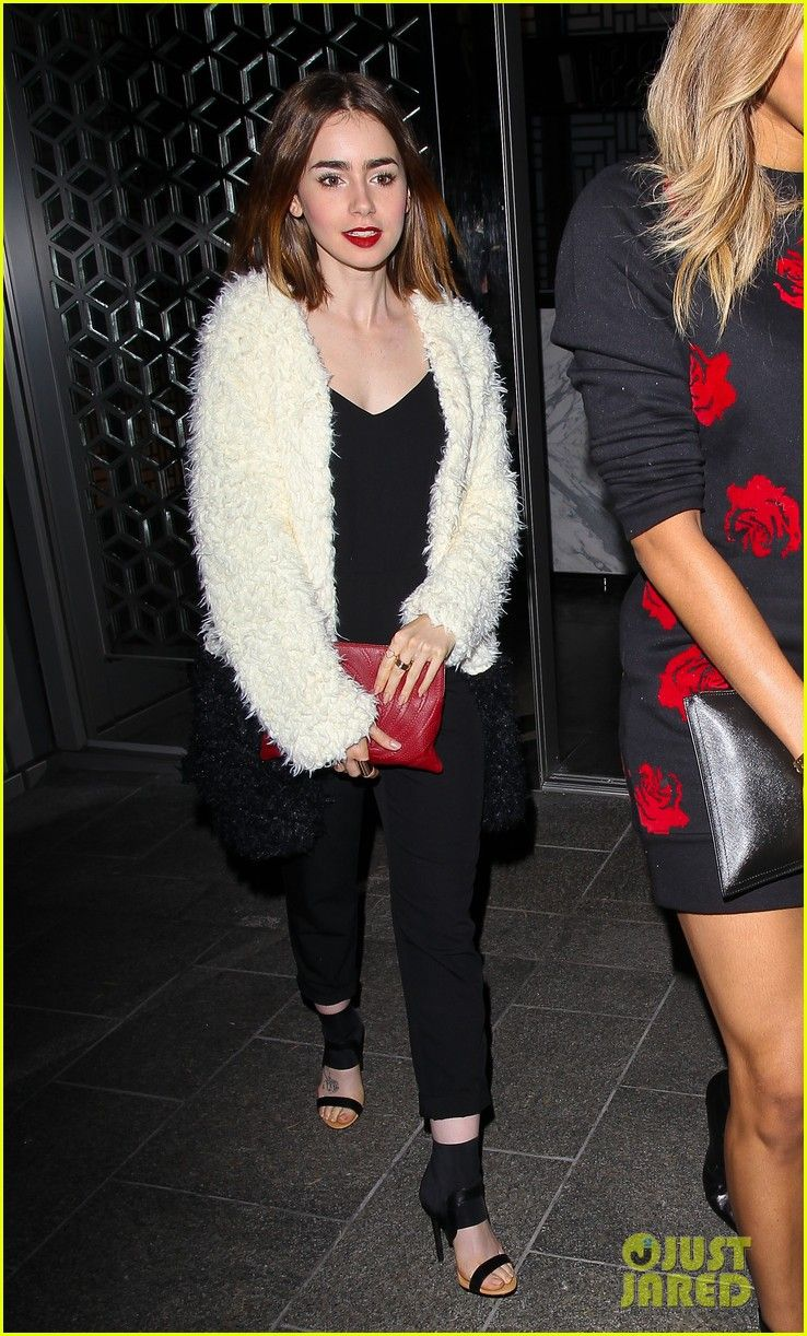 Lily Collins Dines with Ciara for Girl's Night Out! | lily collins dines out at hakkasan with gal pal ciara 07 - Photo