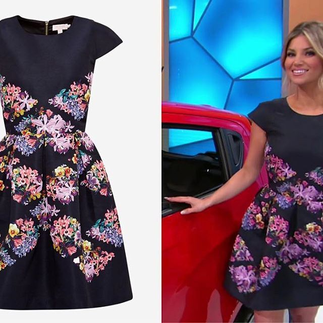 e61e8eee6 Worn by  amberlancaster007 on  therealpriceisright ~ TED BAKER Girley Lost  Gardens Diamond Fit  amp