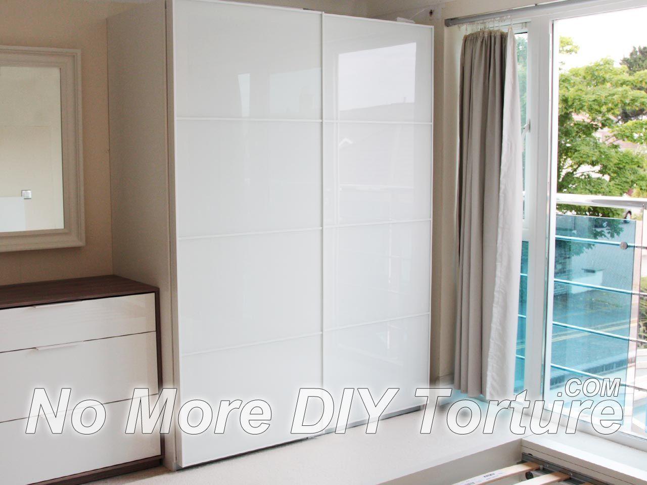 Ikea panel curtain closet door - Panel Curtains Closet Sliding Panel Curtain Door Ikea Pax Farvik White Glass Door Wardrobe