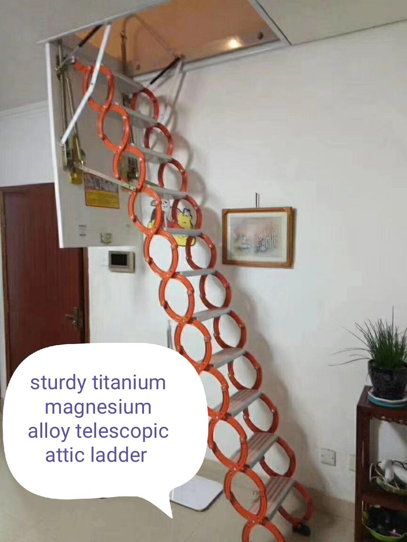 Pull Down Attic Ladder Attic Ladder Loft Ladder Stool Makeover
