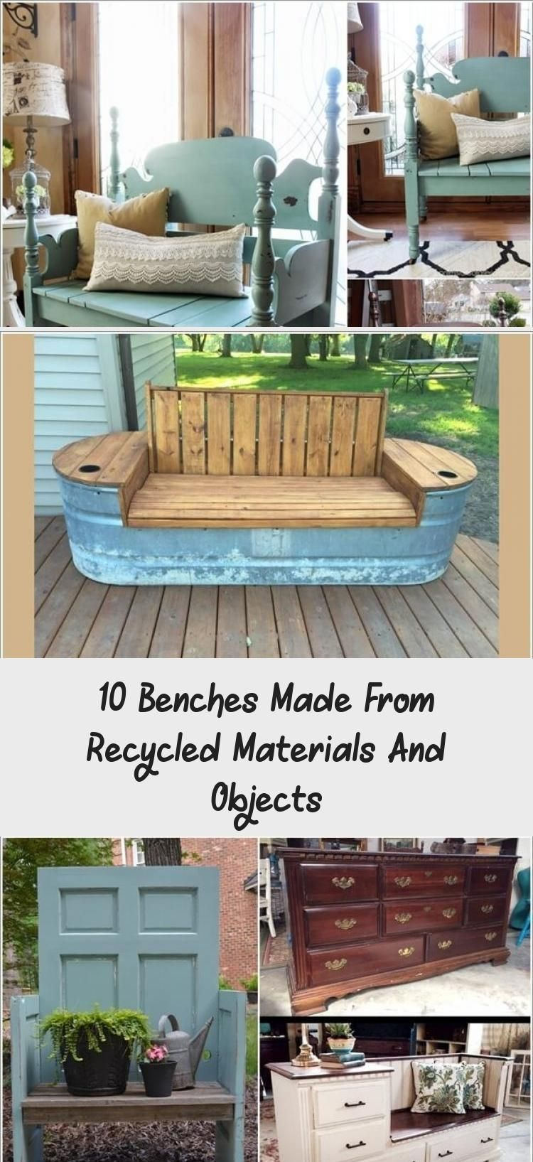 10 Benches Made From Recycled Materials And Objects Home Decor Diy Benches Benches Decor Diy Decor Rustic Outdoor Furniture Outdoor Furniture Design