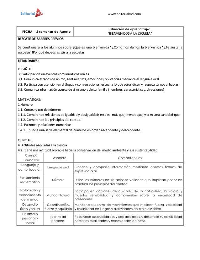 Ejemplo Planeaciones De Preescolar Md Situaciones Didacticas Para Preescolar Planeacion Didactica Preescolar Planeaciones Preescolar